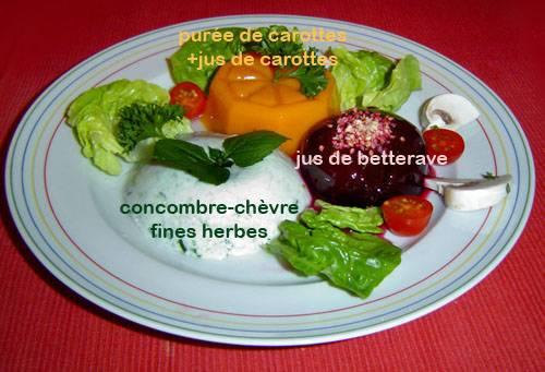 Assiette diététique à l'agar-agar